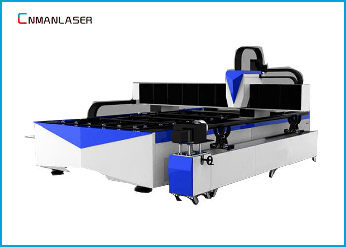 Stainless Steel Silver Metal Tube Pipe CNC Fiber Laser Cutting Machine 1000W