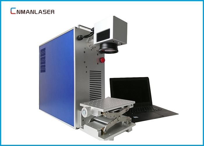 Original Ezcad Metal Laser Marking Machine , Fiber Color Small Laser Marker For Bearing